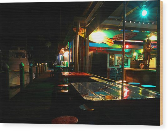 The Wet Bar Wood Print by Jose Rodriguez