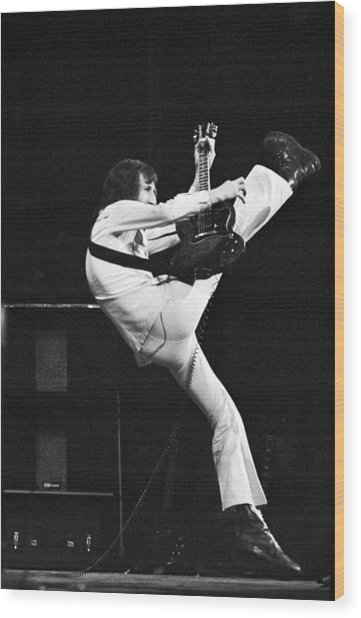 The Who's Pete Townshend 1972 Wood Print
