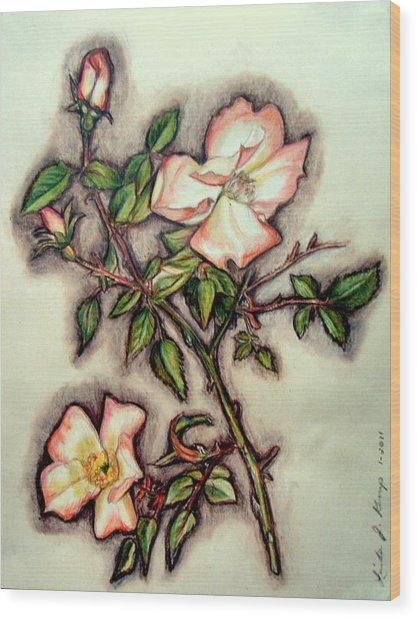 The Wild Rose Wood Print