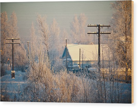 The Winter Country Wood Print by Nikolay Krusser