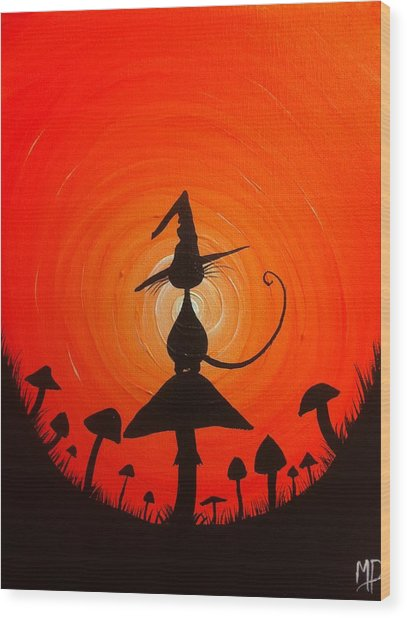 The Witches Hat Wood Print by Michael Prosper