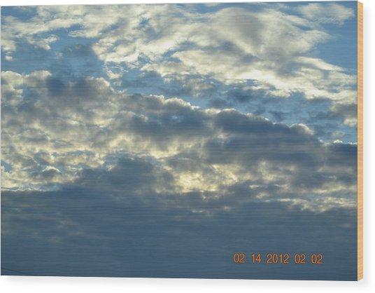 Thick Clouds Wood Print by Heidi Frye