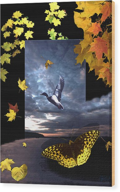Third Canvas Wood Print