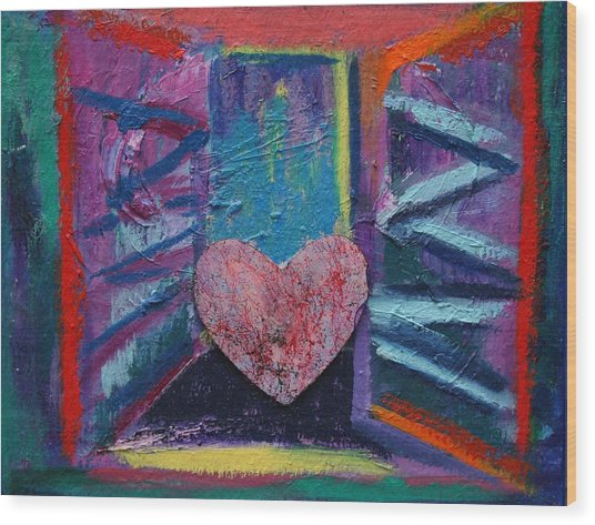 This Heart Wants Out Wood Print