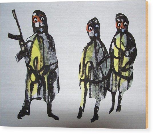 This Masquerade Wood Print by Aquira Kusume