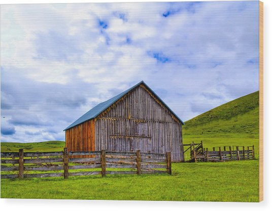 This Old Barn Wood Print by Jen TenBarge