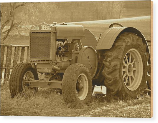 This Old Tractor Wood Print
