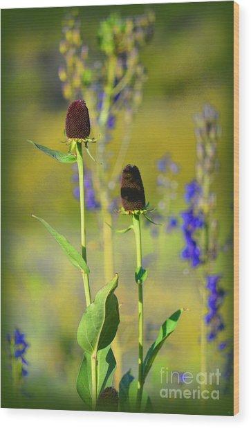 Thistles Wood Print