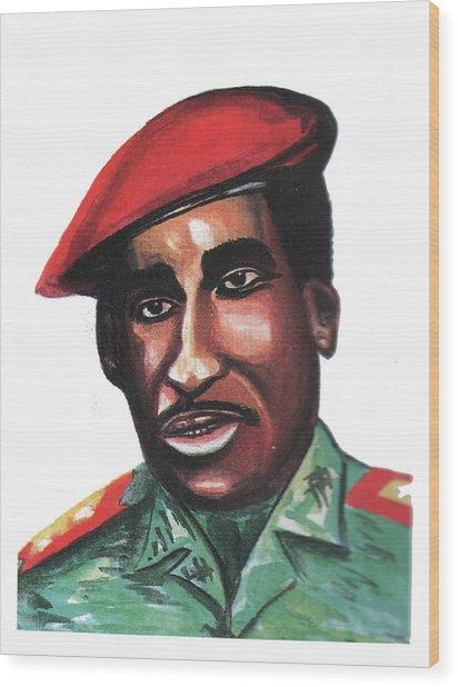 Thomas Sankara Wood Print
