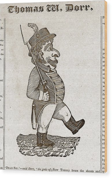 Thomas Wilson Dorr. Caricature Of Dorr Wood Print by Everett