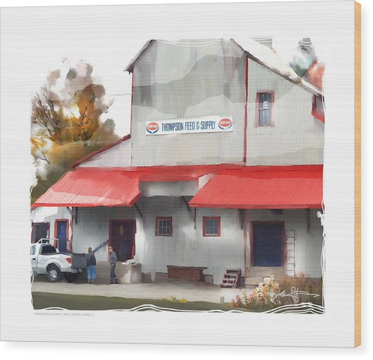 thompson supply and feed Ripley Ont. Wood Print