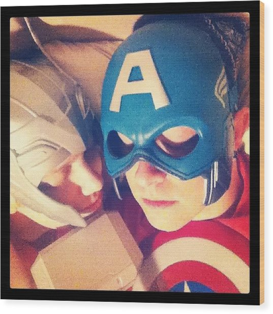 Thor And Captain America. #gay #lovers Wood Print