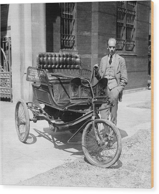 Three-wheel Automobile Wood Print by Granger