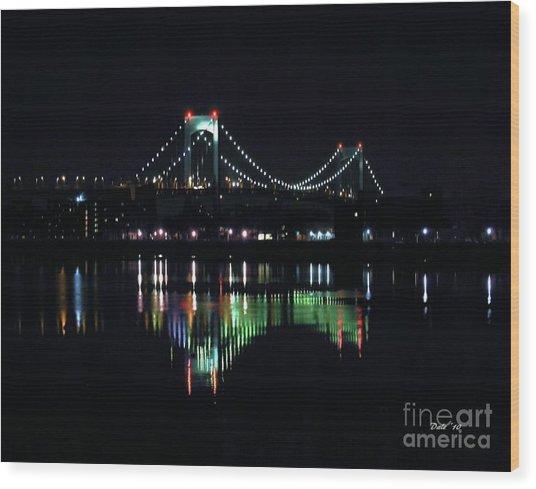 Throggs Neck Bridge Wood Print