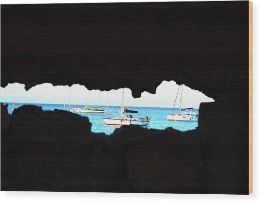 Through The Keyhole Wood Print