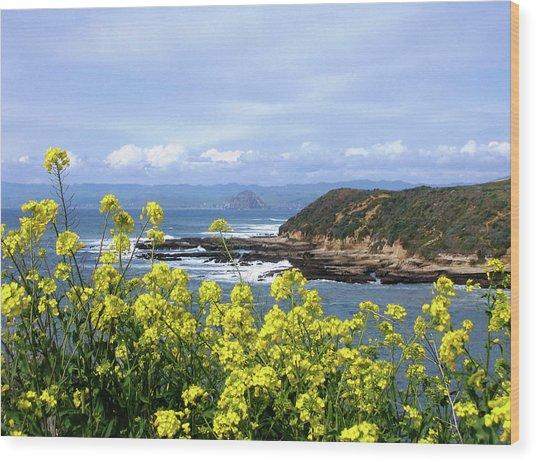 Through Yellow Flowers Wood Print