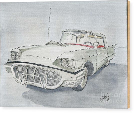 Thunderbird 1960 Wood Print