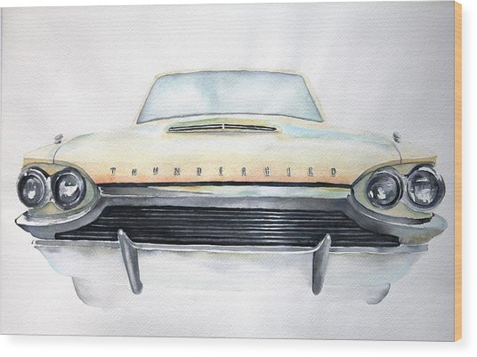 Wood Print featuring the painting Thunderbird by Ruth Kamenev