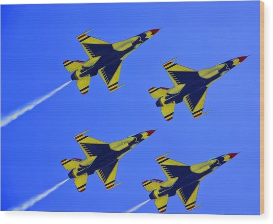 Thunderbirds Ascending Wood Print by Michael Wilcox