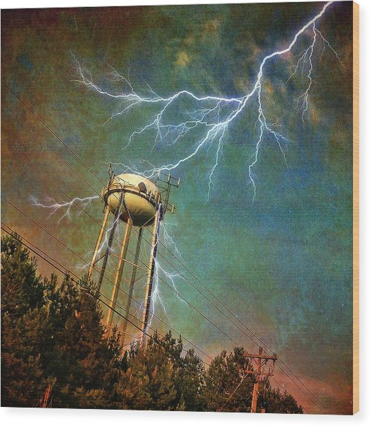 Thundering Bolts Wood Print