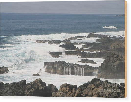 Tidal Falls Wood Print by Anthony Trillo