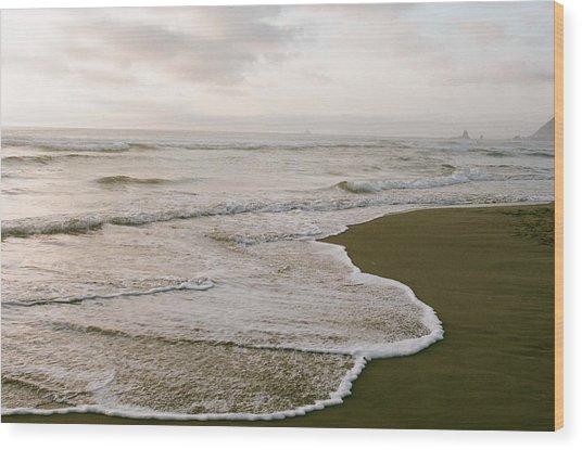 Tide Wood Print by Ariane Moshayedi