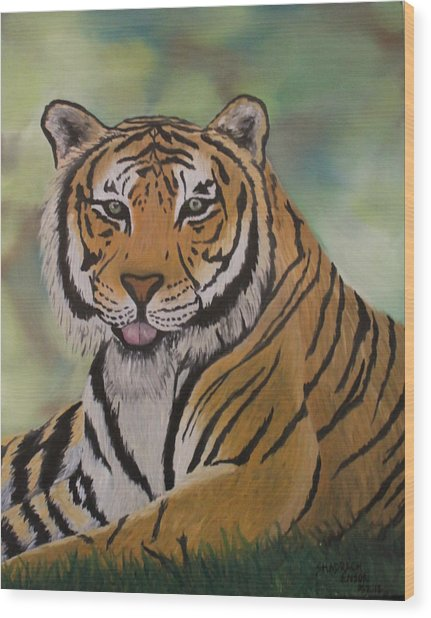 Tiger Wood Print by Shadrach Ensor