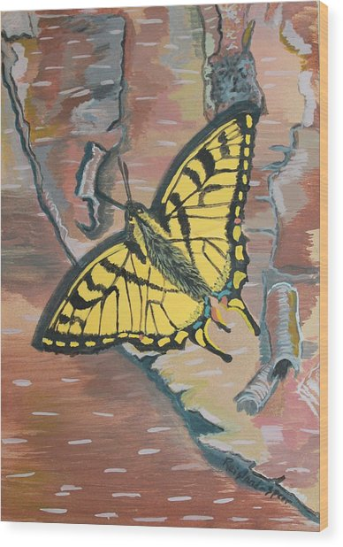 Tiger Swallowtail Wood Print by Amy Reisland-Speer