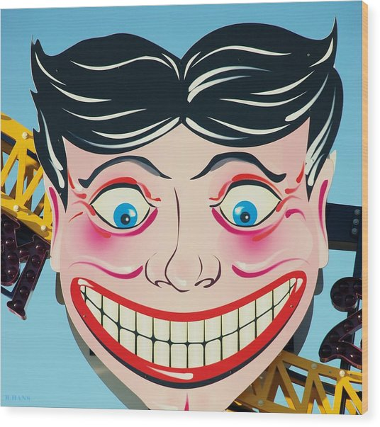 Tillie The Clown Of Coney Island Wood Print
