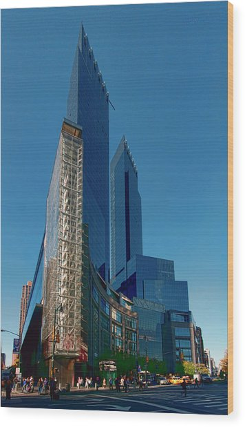 Time Warner Center Wood Print