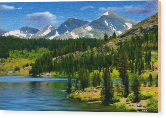 Tioga Lake Frank Lee Hawkins Wood Print