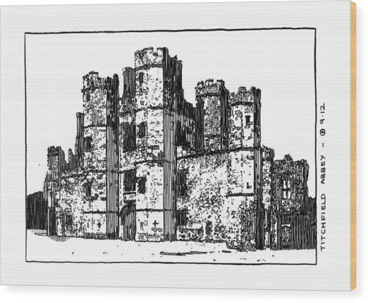Titchfield Abbey Wood Print by Peter Smith