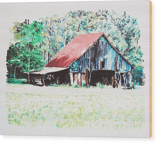 Tobacco Barn Wood Print