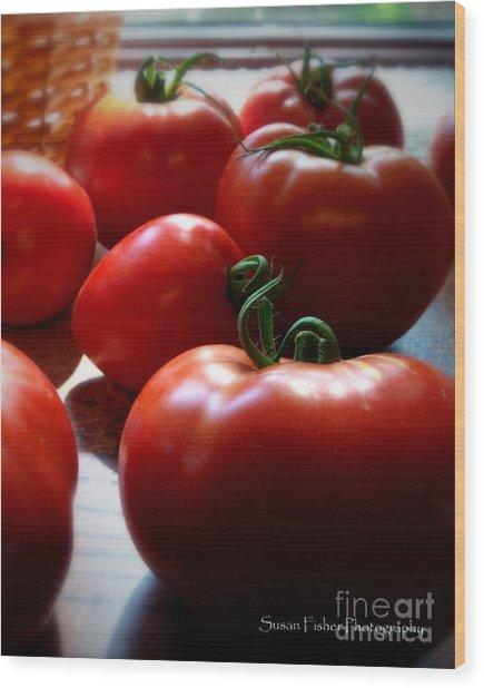 Tomato Love Wood Print