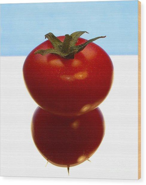 Tomato Wood Print by Odon Czintos