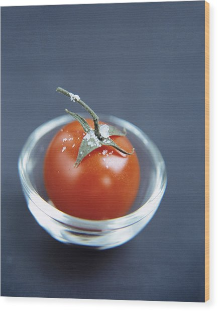 Tomato Wood Print by Veronique Leplat