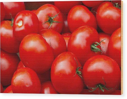 Tomatos Wood Print