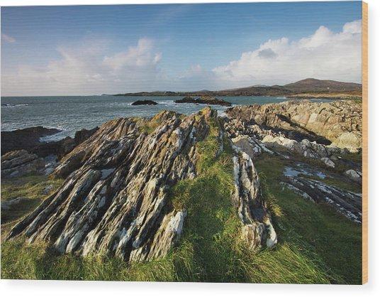 Toormore Coastline Ireland Wood Print