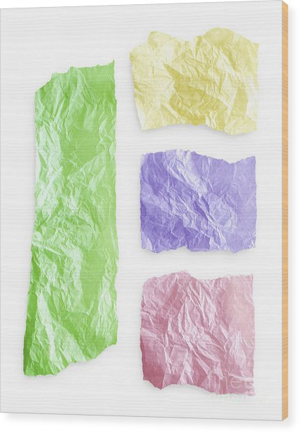 Torn Colorful Paper Wood Print by Blink Images