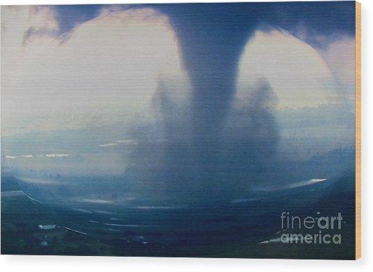 Tornado Destruction In 3d Wood Print