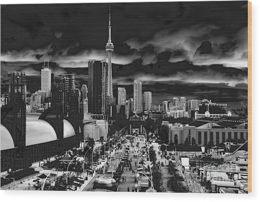 Toronto And The Ex Wood Print
