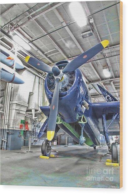 Torpedo Bomber Wood Print