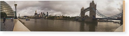 Tower Bridge Wood Print by Keith Sutton