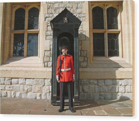 Tower Guard London England Wood Print