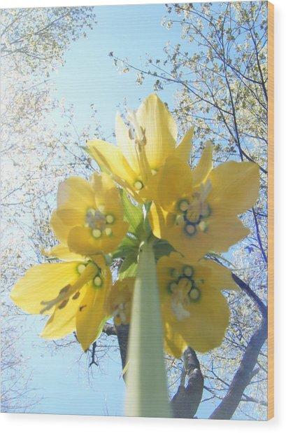 Tower Of Flowers Wood Print by Katy Irene