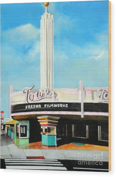 Tower Theater Fresno Wood Print