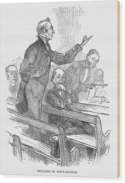 Town Meeting, 19th Century Wood Print
