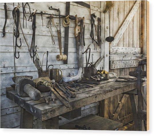 Trade Tools Wood Print
