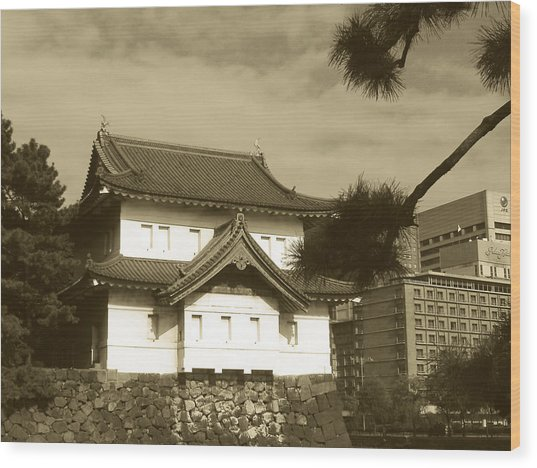 Traditional Building In Tokyo Wood Print