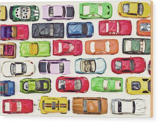 Traffic Jam Wood Print by Catherine MacBride